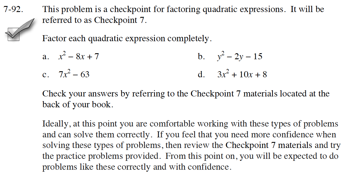 cpm homework answers 7.1.2
